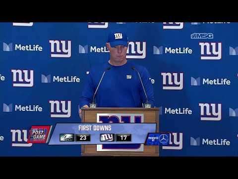 Pat Shurmur on Odell Beckham Leaving the Field & Giants Effort vs. Eagles