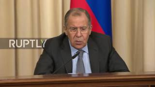 Russia  Lavrov expects 'close, much more efficient cooperation on Syria' with Trump administration
