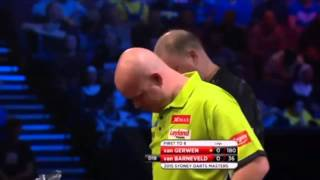 Michael Van Gerwen Drops Glass Of Water | Funny Darts Moment