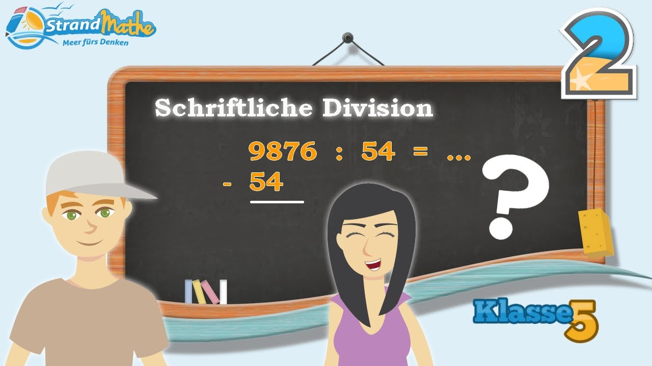 Schriftliche Division - Schriftliches Teilen    Klasse 5 ☆ Übung 2 ...