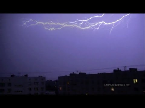 Thunderstorm and Lightning | Riga, Latvia | 12 July 2011