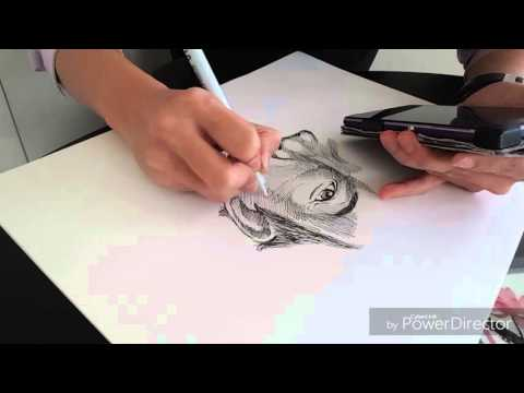 Making a pen portrait [ Hong Kong Artist ] 陳瑞康 draft outline sketch !? No need!