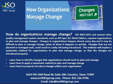 How Organizations Manage Change