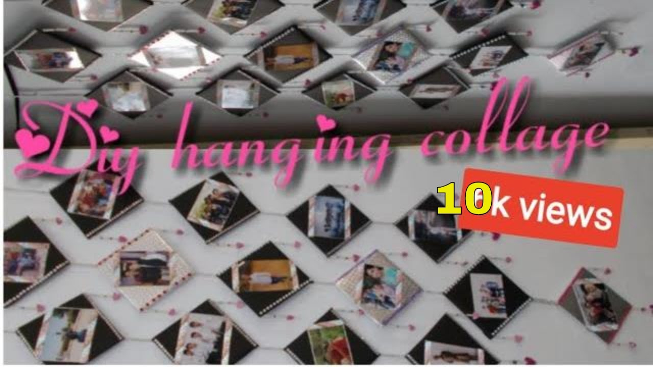 Diy Birthday Gift Idea Hanging Photo Collage Youtube