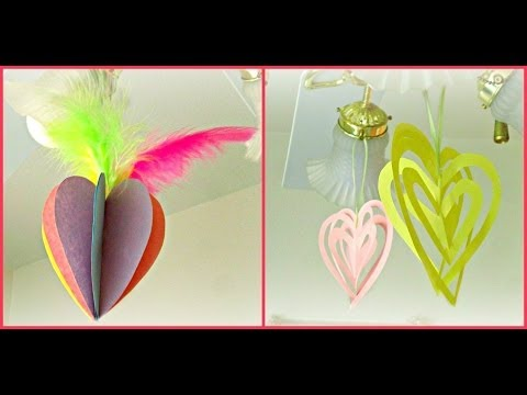 *Valentines Day Crafts*: 3D Heart Ornaments!