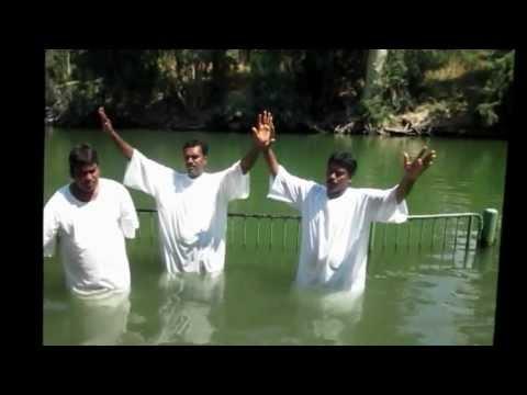 TELUGU CHRISTIAN CHURCH IN HOLYLAND IN ISRAEL ( BAPTHISAM VIDEO IN ISRAE)L