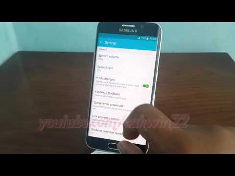 Android Lollipop : How to enable or disable Status bar information in Voice Assistant Galaxy S6