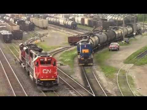 CN 330 and Rail Link Warp Speed Yard work