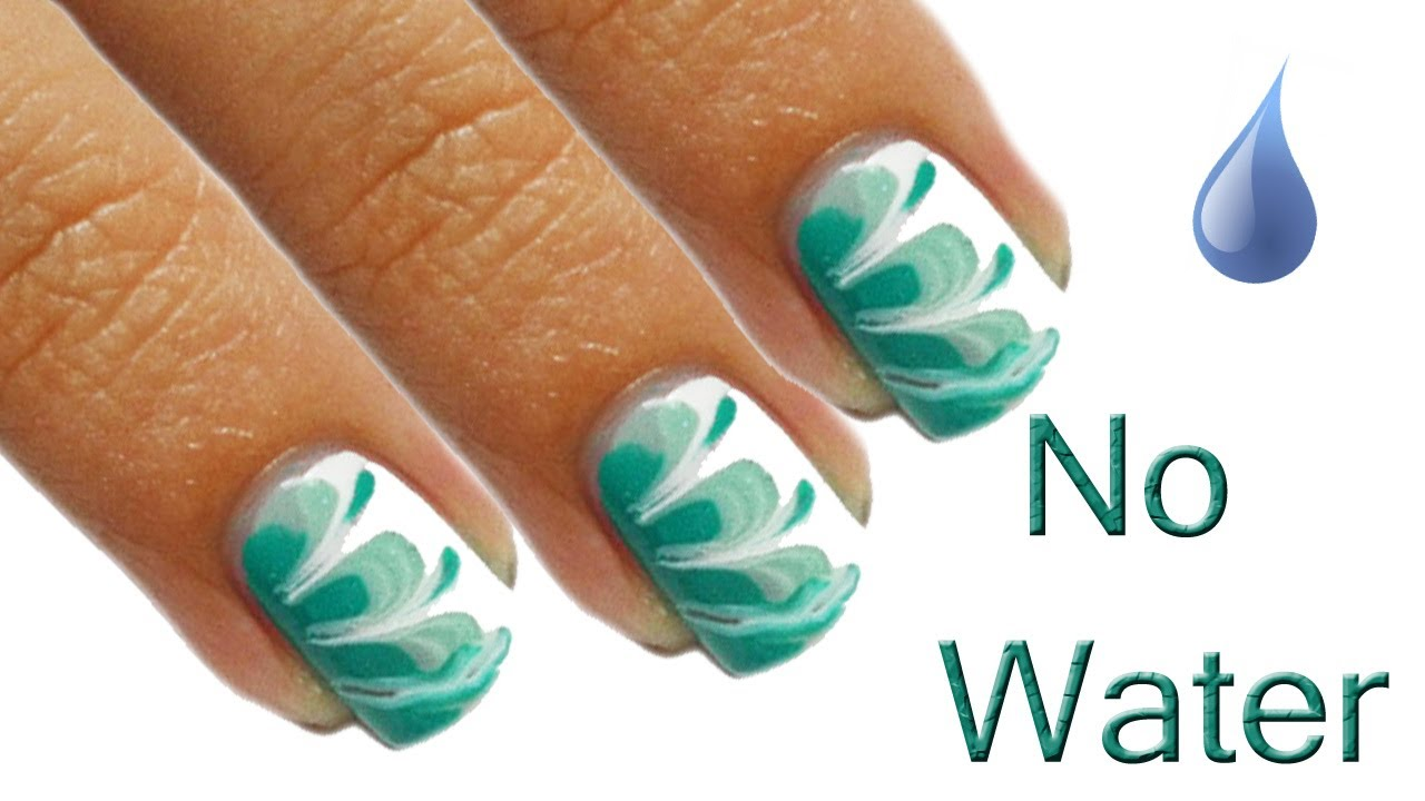""""""" water"""" marble nails tutorial"""