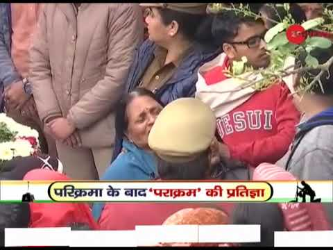Mortal remains of jawan Ajit Kumar reach his house in Unnao, Uttar Pradesh