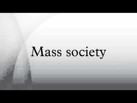 Mass society