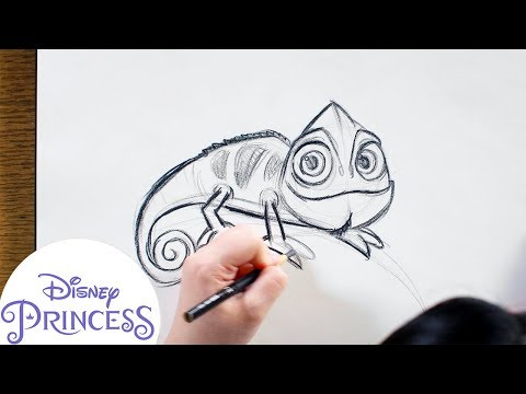 How To Draw Pascal From Tangled   Disney Princess