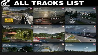 Gran Turismo Sport - All Tracks List - Including All Available Conditions (18.01.2020)