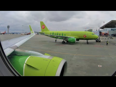 Airbus A320neo S7 Airlines Flight St.Petersburg LED - Novosibirsk OVB - Russia 4К
