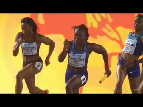 IAAF World Relays 2017 Women 4x100 Heat 1 in Nassau Bahamas