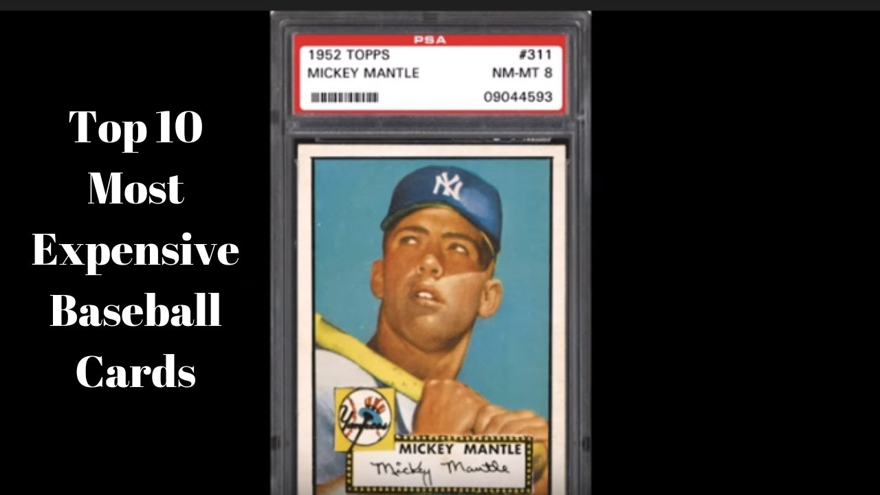 Top 10 Most Expensive Baseball Cards