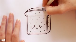 How to Draw a Cartoon Piece of Toast