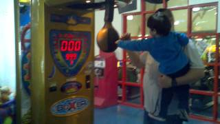 high score on punching machine game 999