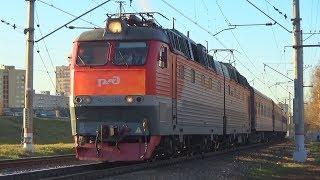 Электровоз ЧС7-268 жолаушылар пойызымен №382 ''Москва - Грозный''