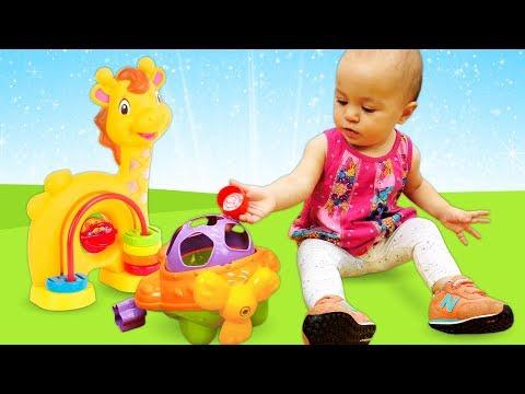 Развивающие игрушки для детей - Учим цвета и фигуры - Дада игрушки