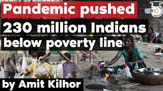 Impact of Covid on Poverty and Livelihood in India - UPSC GS Paper 1 Poverty \u0026 Development Issue