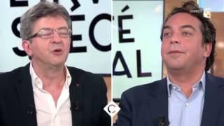 Anne-Sophie Lapix recadre Jean-Luc Mélenchon en direct