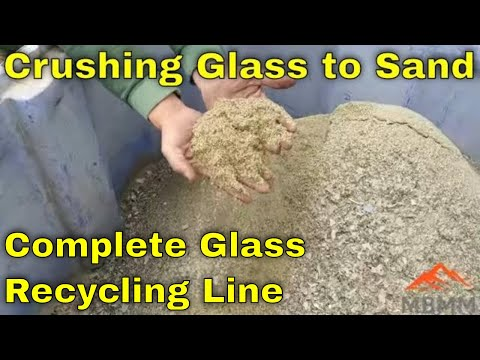 Recycling Glass To Sand! Glass Crushing & Recycling Line