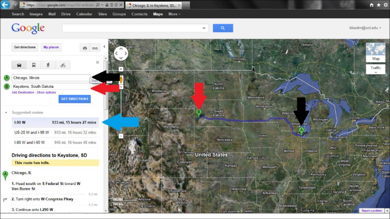 south dakota travel distance calculator