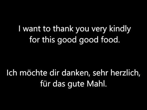 [Music] I want to thank you very kindly for this... - Free Download - Lyrics English/German