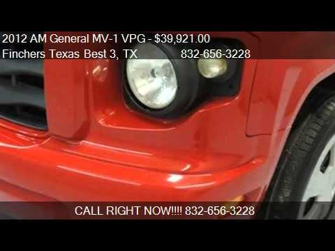 Vpg Mv 1 For Sale >> 2012 AM General MV-1 VPG WHEELCHAIR VAN for sale in houston, - YouTube