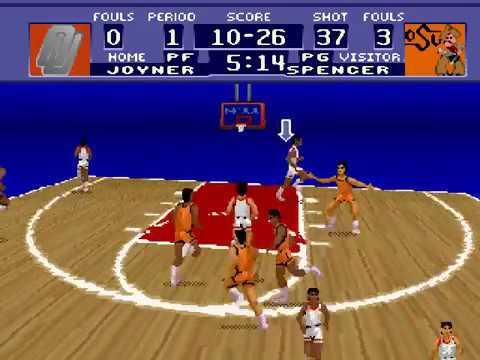 NCAA Basketball (SNES) Gameplay - YouTube