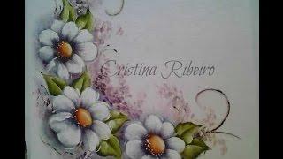 Arranjo de flores bem fácil – Pintura em tecido com Cristina Ribeiro