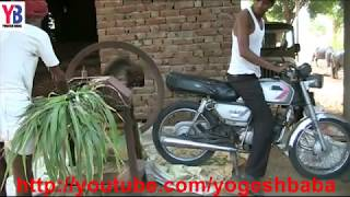 Motorcycle grass cutting machine funny video I Agriculture technology of india