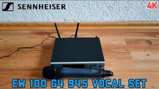 Unboxing Sennheiser EW 100 G4-945-S E-Band Vocal Set German/Deutsch 4K