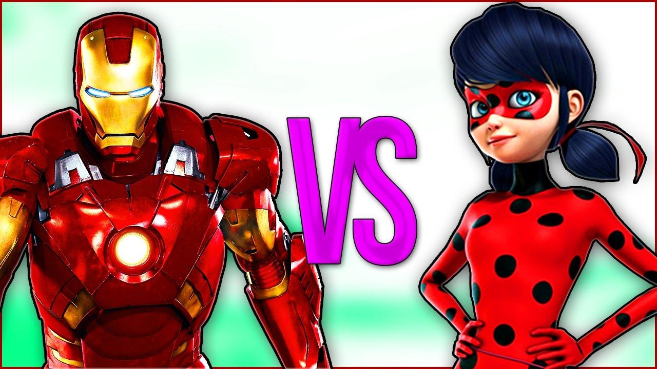 ЖЕЛЕЗНЫЙ ЧЕЛОВЕК VS ЛЕДИ БАГ И СУПЕР КОТ | СУПЕР РЭП БИТВА | Iron Man ПРОТИВ Miraculous Ladybug