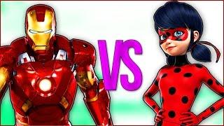 - ЖЕЛЕЗНЫЙ ЧЕЛОВЕК VS ЛЕДИ БАГ И СУПЕР КОТ СУПЕР РЭП БИТВА Iron Man ПРОТИВ Miraculous Ladybug