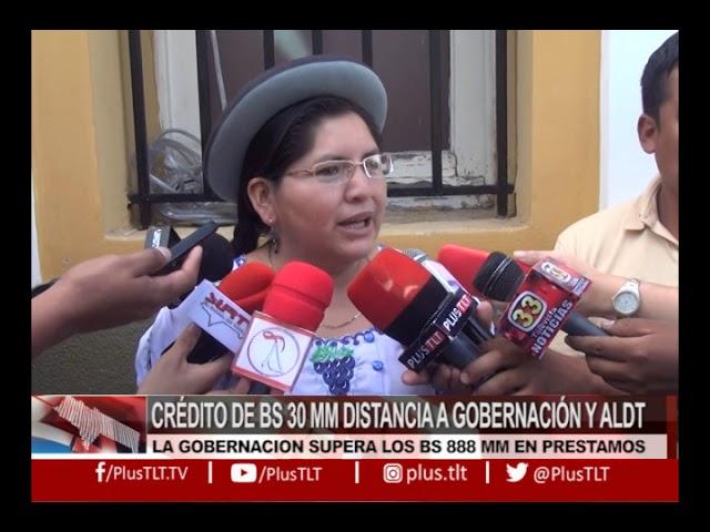 HORA 20 - CRÉDITO DE BS 30 MM DISTANCIA A GOBERNACIÓN Y ALDT