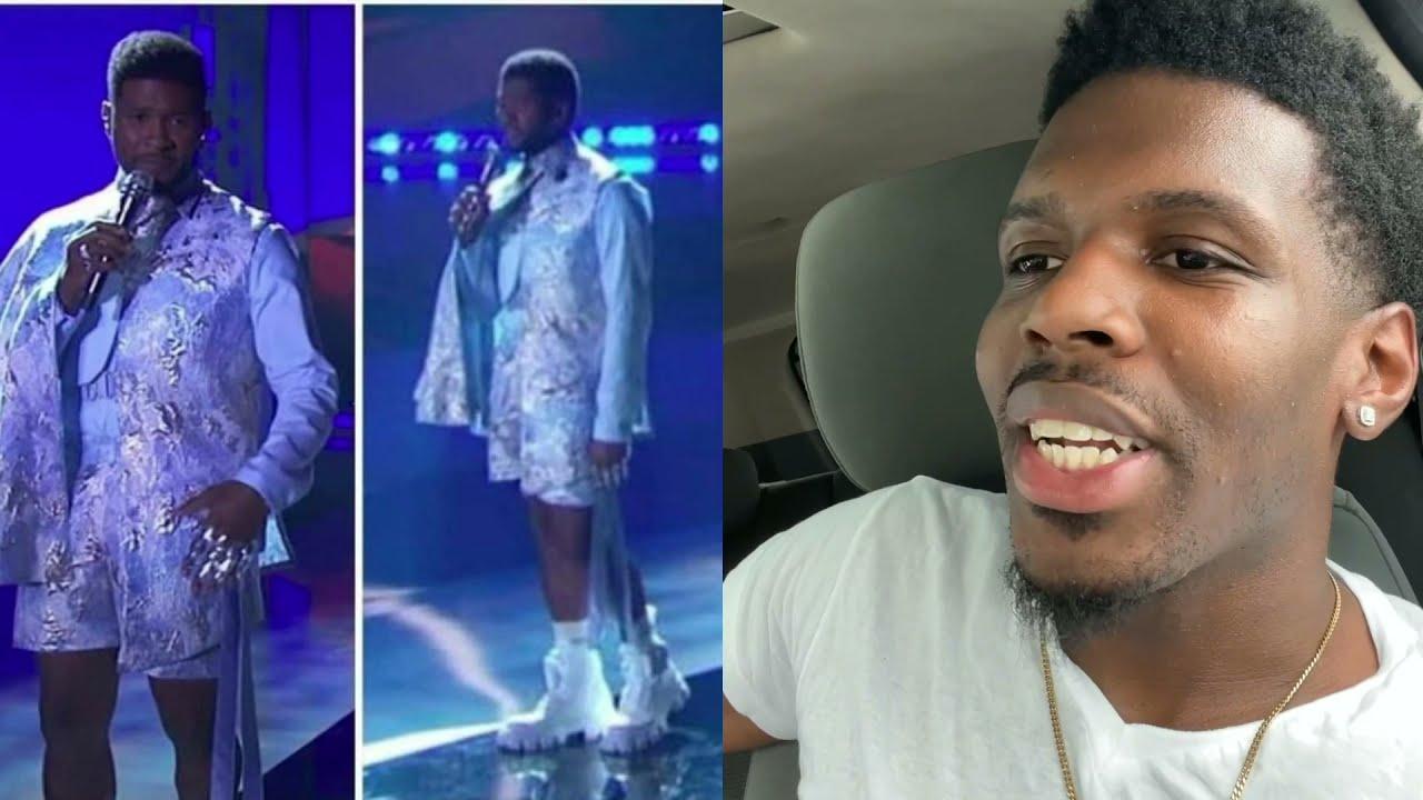 Who let Usher in dressed like missy Elliott??! 😂🔥