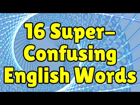 16 super-confusing words in English