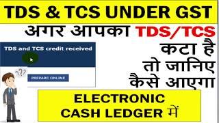 GST TDS & TCS CREDIT, GST में आपका TDS/TCS कटा है तो जानिए कैसे आएगा ELECTRONIC CASH LEDGER में, GST