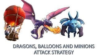 Clash Of Clans TH 7 - Dragons, Balloons And Minion War Attack Strategy TH 7