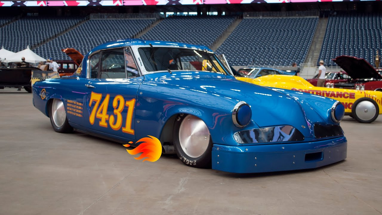 Studebaker Bonneville Salt Flat Racecar - Walkaround, Startup and ...