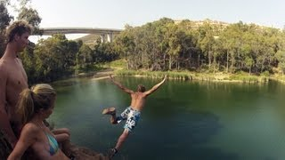 cliff jumping 2 turtle lake 1000fps slow motion