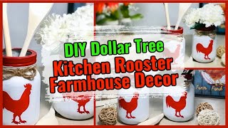 DIY Kitchen Farmhouse Decor - Rooster Utensil Holder Rustic Home Decor - Mason Jar Craft