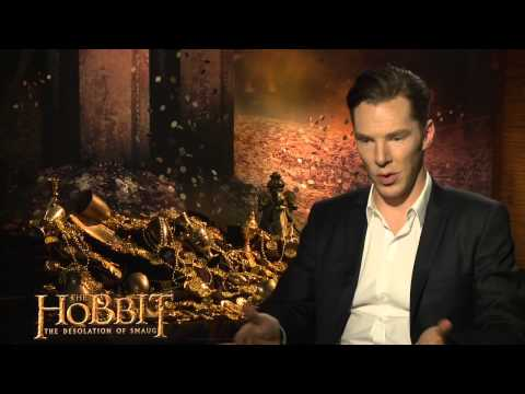 """The Hobbit: The Desolation of Smaug: Benedict Cumberbatch """"Smaug"""" Official Interview"""