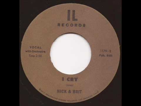 Nick and Brit - I cry - IL Records Nu Soul RnB 45 Nick Waterhouse