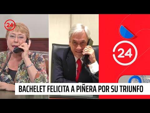 Presidenta Bachelet llama a Sebastián Piñera para felicitarlo por su triunfo