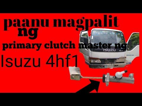 How to replace Isuzu 4hf1 clutch master