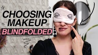 I Choose A FULL-FACE Of Makeup BLINDFOLDED 😳 | Jamie Paige