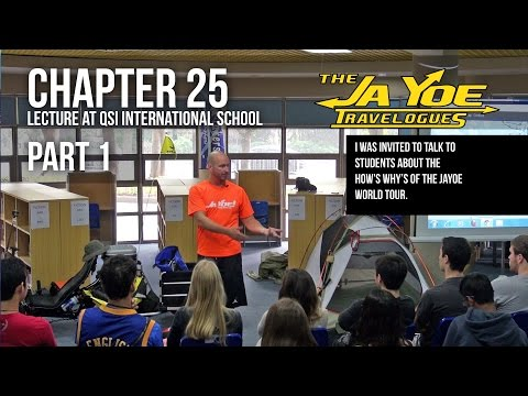 Lecture about a World Cycle Tour | Part 1 | JaYoe Travelogue | Chapter 25